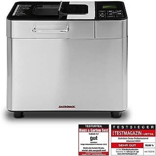 Gastroback 42823 Design 自动烤面包机 Advanced,不锈钢面包机,18 种程序,自动配料隔层,适合制作 500 克,750 克,1000 克,长条面包,视窗,定时器,18/8,银色