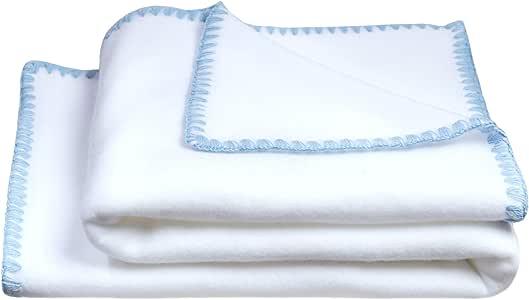 "Soft-Fleece 婴儿毛毯 - 摇粒绒毯 - 毛绒婴儿毯 - 80x100cm - 来自""zoeppritz Since 1828"" 520 Azur 80x100cm 803391-520-80x100"