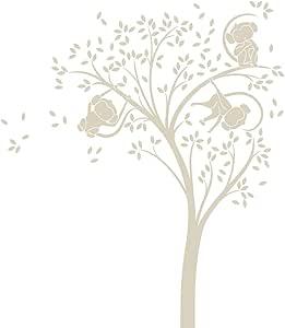 LittleLion Studio 046001010000000000000000 猴树单色墙贴 浅米色 046007082000000000000000