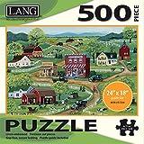 "LANG - 500 片拼图 -""General Store"",Mary Singleton 的艺术作品 - Linen Finish - 24"" x 18"" 完成"