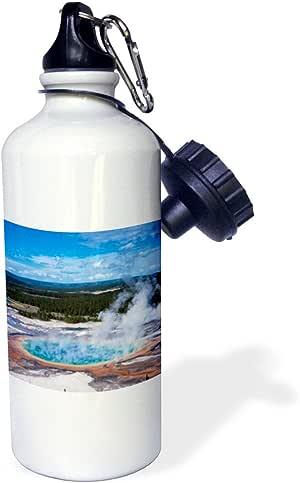 3dRose wb_206794_1 大棱镜水槽,Midway Geyser 水槽,黄石Np,Wyoming 运动水瓶,多色,21 盎司