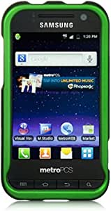 Luxmo CRSAMR920GR Unique Durable Rubberized Crystal Case for Samsung Galaxy Attain 4G/R920 - Retail Packaging - Green