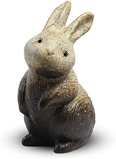 CtoC JAPAN Select 信乐烧 兔子 摆件 SA46-12 陶器 宽 13cm x 深 11cm x 高 22cm 站立兔子 粉引风 7号 时尚 陶器 4510542320963