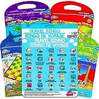Travel Games *套装 ~ 旅行宾果、棋子、Tic Tac Toe、蛇和梯子,以及更多适合儿童的磁性旅行游戏