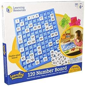 Learning Resources 120数字板 百数板 计数板 学习早教教具 (适合6岁及以上儿童)