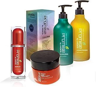 Uniqkka Promise Complete *和再生护理套装 - 再*际线解决方案套装,含洗发水、护发素、发膜和精华 - **和加厚*,男女皆宜