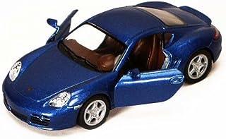 Kinsmart 保时捷 Cayman S,蓝色 5307D - 1/34 比例压铸模型玩具车,但没有盒子