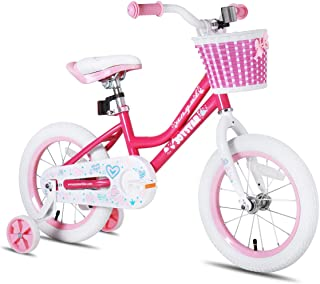 JOYSTAR 儿童自行车带 DIY 贴纸适用于封闭链保护,儿童自行车带训练轮适用于男孩和女孩(12 英寸,14,16 英寸)