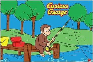 Fun Rugs 好奇的乔治钓鱼少年风格地毯,99.06 厘米 x 147.3 厘米