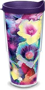 Tervis 隔热玻璃杯,带杯盖和杯盖 透明 24 oz 1318172
