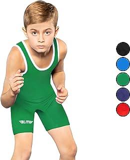 Elite Sports 摔跤青少年汗衫标准儿童摔跤汗衫