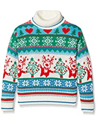 BRITISH 圣诞 jumpers 女孩跳舞驯鹿高领套衫
