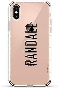 ALBANIAN FLAG 奢华空气系列透明硅胶手机壳带 3D 印花设计和气袋垫缓冲垫适用于 iPhone Xs Max(新款 2018/2019 型号,带 6.5 英寸屏幕)LUX-IXPLAIR-NMRANDALL2 NAME: RANDALL, MODERN FONT STYLE 透明