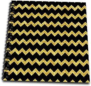 ANNE marie baugh–V 形图案条纹–金色和黑色 V 形条纹–绘本