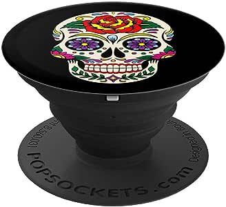 亡灵节骷髅 - Calavera de dia de los muertos - PopSockets 手机和平板电脑握架260027  黑色