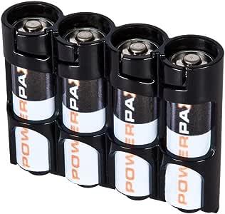 Powerpax 的 Storacell AA 12 件装电池盒,黄色 Holds 4 Batteries SLAATB