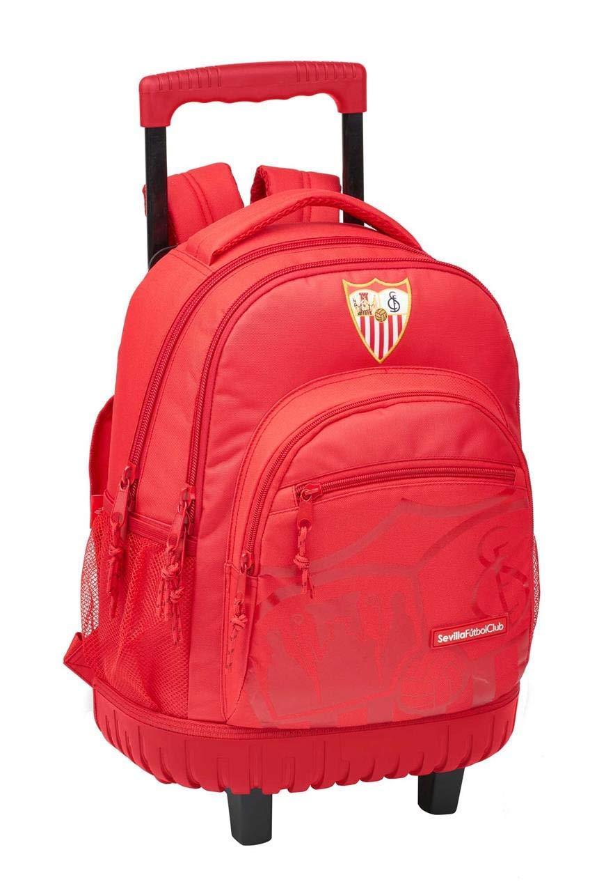 Sevilla FC 手推车背包 45 厘米紧凑型,带公司轮自由时光和运动鞋,成人,男女通用,多色,45 厘米