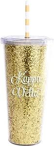 Alexandra and Company AA3003ACO 闪光玻璃杯,Alpha Chi Omega Kappa Delta AA3003KD