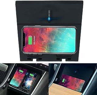 Tesla 型號 3 無線充電器,M3 水平/垂直雙 Qi 無線智能手機充電板*雙 USB 充電,兼容 Tesla 型號 3 配件
