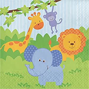 Creative Converting 192-Count Paper Lunch Napkins, Forest Friends Celebrations