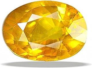 GEMS HUB 黄色蓝宝石(Pukhraj)9.25 Ratti认证天然真皮藤蔓宝石 用于星座
