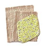 华布 布巾布 套装C(植物条纹图案、L、M)