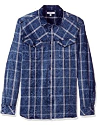 William Rast 男式 Oak 长袖梭织衬衫