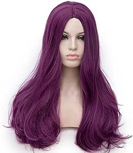 长 60.96 厘米耐热 Lolita 时尚哈吉鲁角色扮演假发 + 假发帽 紫色