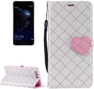 alsatek GSM/PU 皮革保护盒,适用于 Huawei P10 银色主题封闭心形