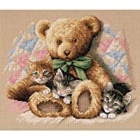 Dimensions Needlecrafts Counted Cross Stitch, Teddy & Kittens