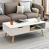简约现代电视柜茶几组合北欧小户型地柜迷你家具伸缩电视机柜 (暖白色(茶几))