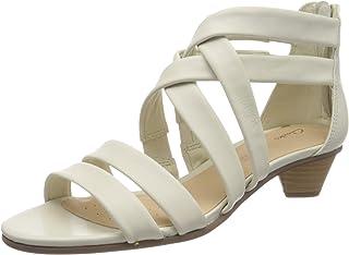 Clarks 女士 MENA Silk 露跟凉鞋
