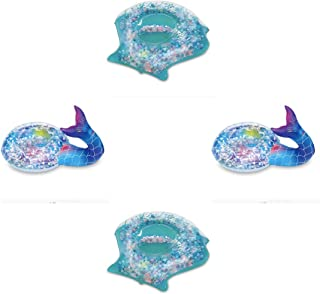 PlayDay 饮料架 4 个装,每包包含 2 个美人鱼尾巴和 2 个外壳,包括修补补丁