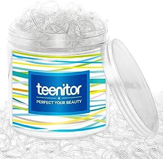 透明弹性发带,Teenitor 2000 片装迷你发胶带带带盒,软发弹性发带 2 毫米宽,30 毫米长