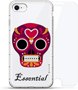 Luxendary Air 系列 360 束,设计师款手机壳 Plus 钢化玻璃 iPhone 8/7LUX-I8AIR360-SKULL20 Essential Skull 透明