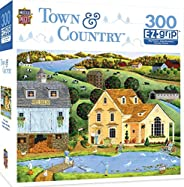 MasterPieces Town & Country A Walk on the Pier - Seaside Town Large 300 片 EZ Grip 拼图 Art Poulin 出品 108 mon