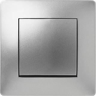 Famatel 9204,暗装交叉开关颜色:铝灰色,8.5 x 8.5 x 5 厘米。