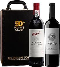 【亚马逊直采】TWE富邑 90+ 红葡萄酒双支礼盒(Penfolds 奔富 Bin389+Stags' Leap 鹿跃酒庄 赤霞珠干红葡萄酒750ml)