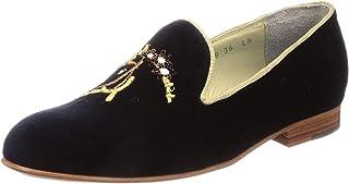[极光 ] MIMOUZA拖鞋 KISS/KISS刺绣 工匠手工制作 奢侈 *适*为礼物送人 女士 AU-002