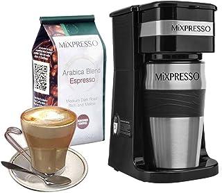 Ultimate 2 合 1 单杯咖啡机和 14 盎司(约 396.9 克)旅行杯组合 | 便携式和轻质个人滴滤咖啡机和不倒翁高级自动关闭功能和可重复使用的环保过滤器