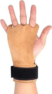 2U2O 皮革手柄带腕部支撑 – 非常适合体操、拉起、举重、壶铃、交叉训练、健身、肌肉锻炼和* – 适合男士、女士、女孩、男孩