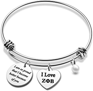Zeta Phi Beta Sorority 灵感手链希腊语姐妹会礼物 I Love ZPB Jewelry I am So Proud That I Become Better Because of You(ZPB BR)