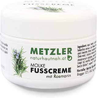 Metzler Molke 脚霜 迷迭香 - 滋养受损的脚部,由精油和百里香、鼠尾草、斗牛士和薄荷提取物,50克