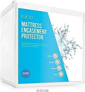 LUCID 密封床垫保护器 - 完全包裹床垫防水、防*、防床虫保护 - King LS0PKKEP