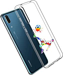 """Huawei P20 7"""" 对开式 黑色 Clear - Soccer Player"""