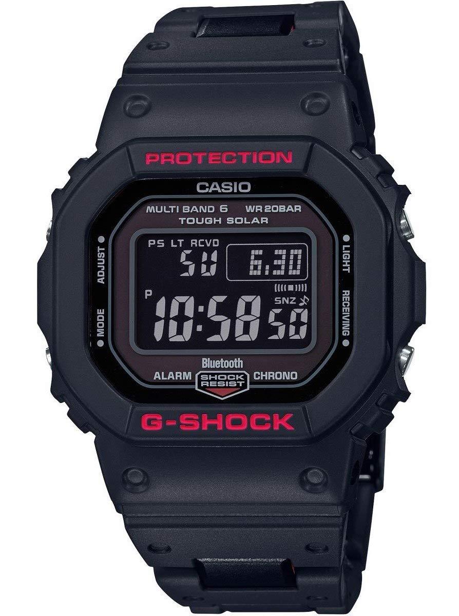 CASIO 卡西欧男士数码石英手表带树脂表带 GW-B5600HR-1ER