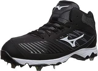 Mizuno 女式 9-Spike 高级拖鞋 4 中金属垒球鞋钉鞋 黑色/白色 12 M US
