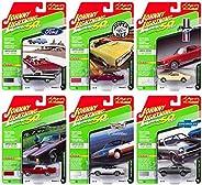Johnny Lightning 经典金色 2019 套装 B - 压铸汽车 6 件装 - 可收藏模型,适合儿童和成人 - 限量版