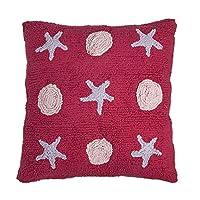 快乐装饰儿童可水洗靠垫 ( 45x 45cm ,紫红色 / 紫色 / 粉色,小波浪 )