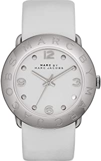 Marc By Marc Jacobs Amy 白色皮革女士手表 MBM1223